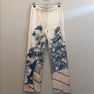 We! Asian Graphic Print Lounge Pants